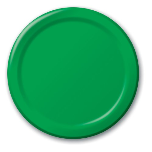 "6.75"" Lunch Paper Plate (24 Count) Color: Emerald Green"