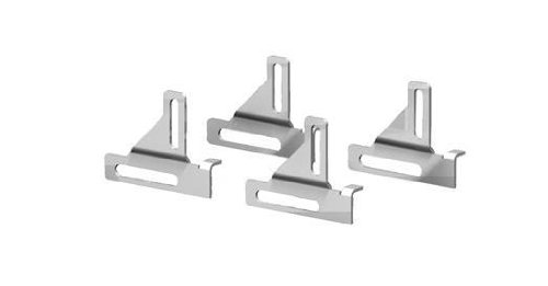Rittal 8018689 Zinc Plated Carbon Steel Universal Wallmounting Bracket for AE/WM, Flush-mount