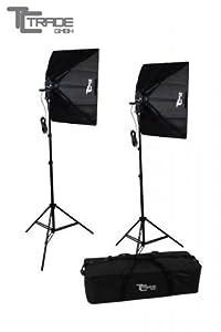 2x Studio de photo Neptun Pied avec suspension, Sac pliant