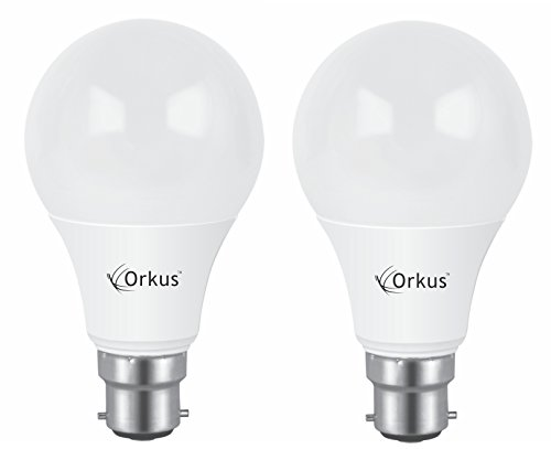 Optiglow B22 9W LED Bulb (Cool Day Light, Pack of 2)