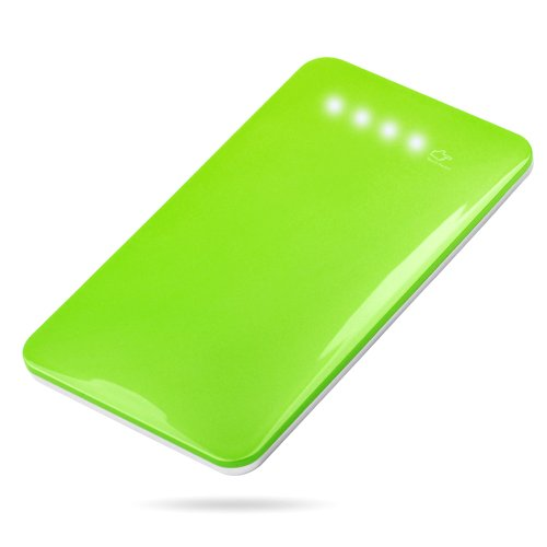 Andream 4000Mah Ultra-Thin 0.29 Inches External Lithium Polymer Battery Pack Under Security Protection Green Lp-509A