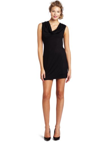 Trina Turk Women's Pierson Cowl Neck Dress, Black, 4