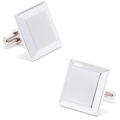 Ox And Bull Mens Stainless Steel Engravable Staged Cufflinks