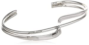 Sterling Silver Double Bypass Cuff Bracelet by Amazon Curated Collection