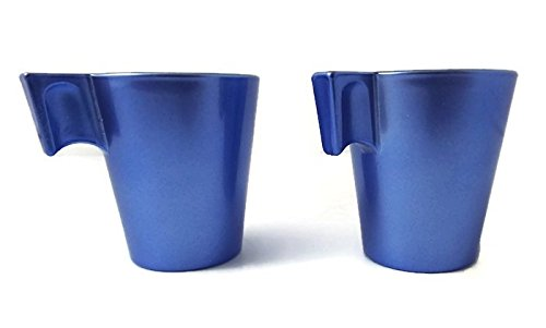 Luminarc Flashy Expresso Cups ~ Blue ~ Set of 2 ~ Espresso Cups (Luminarc Coffee Cup compare prices)