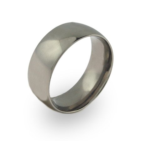 Mens 9mm Wide Titanium Band Size 10 (Sizes 9 10 11 12 Available)