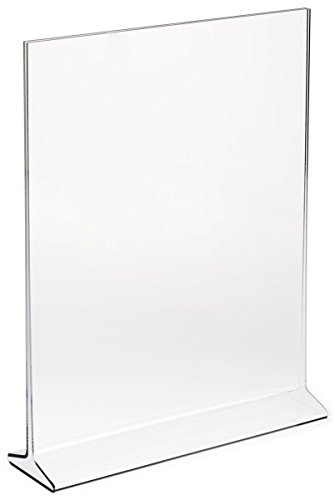 """(Pack of 6) Bold Brands 5""""X7"""" Acrylic Sign Holder, Plastic Portrait Frame Display for Menus, Pictures, Ads , Promos"""