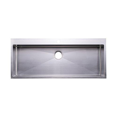 "BAI 1223 - 48"" Handmade Stainless Steel Kitchen Sink Single Bowl Top Mount 16 Gauge"