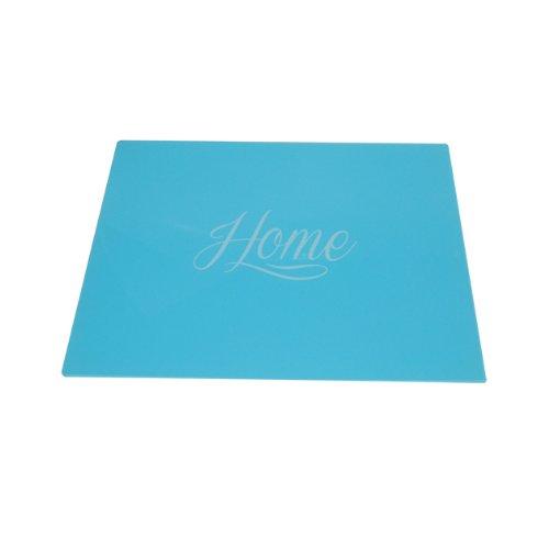 Anika Dessous-de-plat en verre Bleu 30 x 40cm
