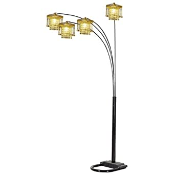 ORE International 6968BK 4 Arms Arch Floor Lamp - Black - - Amazon.