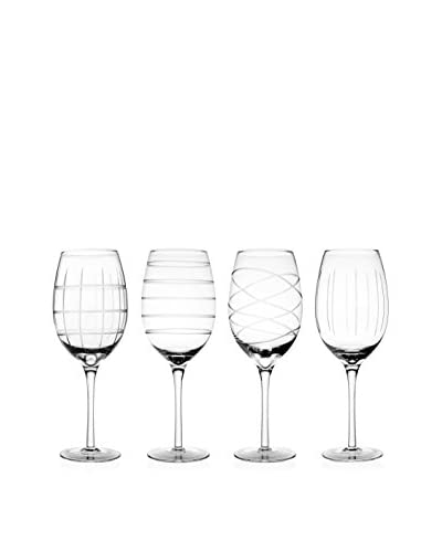 Fifth Avenue Set of 4 Medallion 15.5-Oz. White Wine Goblets