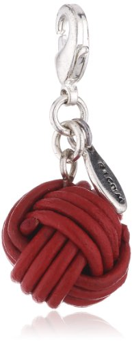 Pilgrim Women's Charms Pendant Brass Silver Plated Red 560155