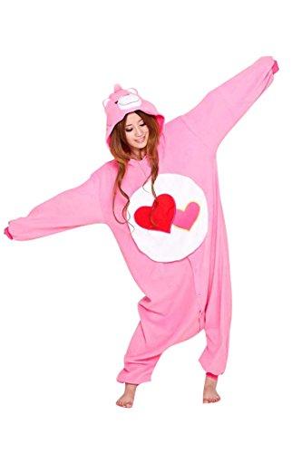 [Unisex Adult Care Bears Kigurumi Animal Onesie Pajamas Costume Cosplay Clothing Sleepwear Romper] (Role Reversal Halloween Costumes)