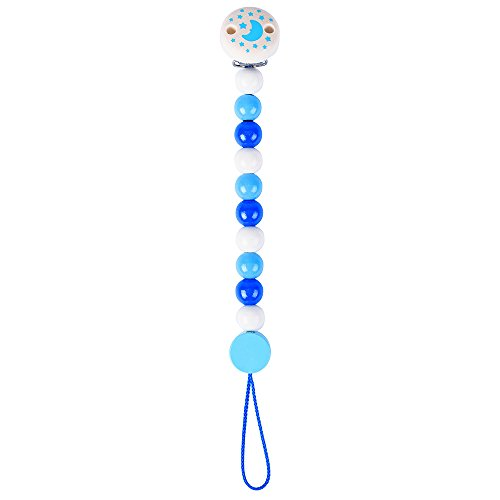 Heimess Catenella porta-ciuccio perline azzure