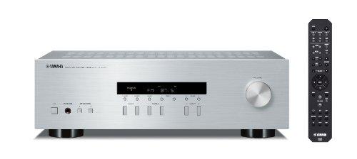 R-S201 HiFi Stereo Receiver mit Lautsprecher A/B Schaltung und 140 Watt je Kanal silber