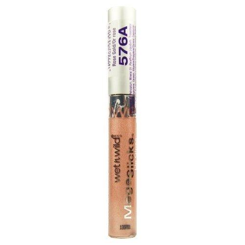 Wet N Wild Mega Slicks Lip Gloss, #576A Rose Gold - 0.19 Oz, Pack of 3