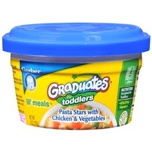 Gerber Graduates For Toddlers Lil' Meals Pasta Stars With Chicken & Vegetables 6.0 Oz. (Quantity Of 12) front-255957