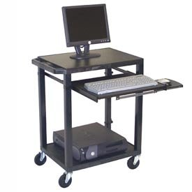 Buy Low Price Comfortable Tuffy Mobile Computer Workstation – 24″W X 18″D X 33″H Black (B004HBJREI)