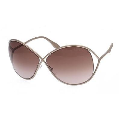 0893725b4908 Tom Ford Lilliana FT0131 Sunglasses 57F Pearl Beige (Gradient Gray Brown  Lens) 66mm on PopScreen