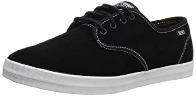 BOBS from Skechers Men's Kustom Sneaker,Black/White,11 M US