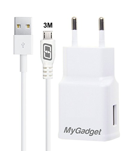 MyGadget-Ladeset-1x-Micro-USB-Kabel-3M-und-1x-Netzteil-2A-fr-Samsung-Galaxy-S6S7EdgeNoteGoogle-Nexus-6P-HTC-10-Huawei-uswWeiss