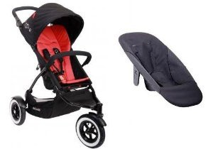 Phil And Teds Dot Stroller With Face To Face Seat (Chilli) front-1043630