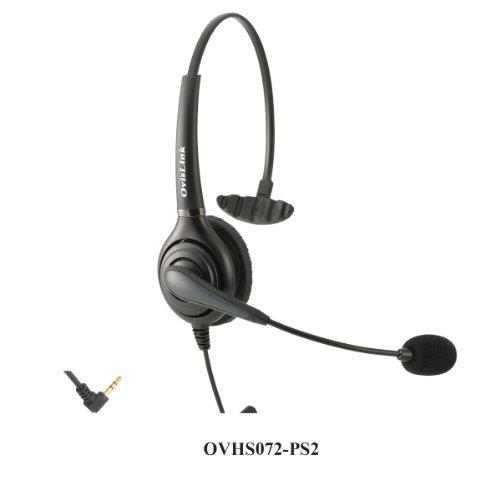 Call Center Headset For Polycom Soundpoint Ip Phones With 2.5Mm Headset Jack