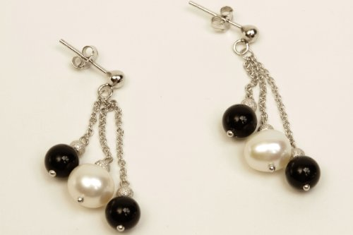 mmpearlmichael-mikado-75-80mm-white-cultured-pearl-with-black-onyx-chain-drop-earrings