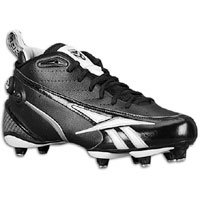 Reebok Vince Young Football Cleats Electrify 5/8 SD3 Black With White 9.5