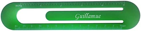 Bookmark  ruler with engraved name Guillamue first namesurnamenickname