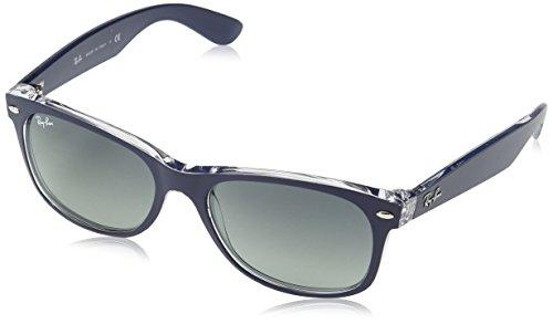 ray-ban-rb2132-wayfarer-sunglasses-605371-blue-transparent-gray-grad-lens-55mm