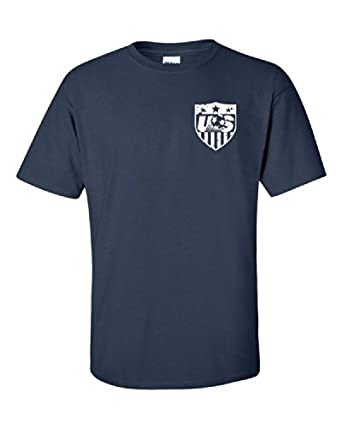 Jacted Up Tees Jozy Altidore US National Soccer Team Front and Back Men's T-Shirt - Small Navy (928)
