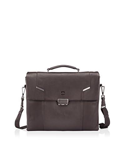 DELSEY Paris Haussmann 13.3″ Laptop Flap Over Leather, Brown