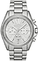 Michael Kors Stainless Steel Quartz Chronograph Silver Dial Date Display