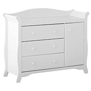 Stork Craft Aspen Combo Dresser Chest, White