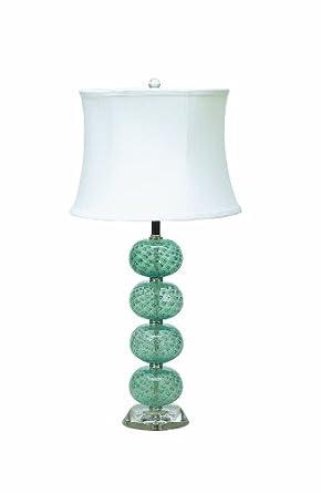 lamp works aqua glass orb table lamp. Black Bedroom Furniture Sets. Home Design Ideas