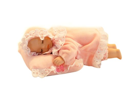 Tummy Sleeping Baby Wearing Pink Lace Costume Music Box Personalized Christmas Gifts front-691409