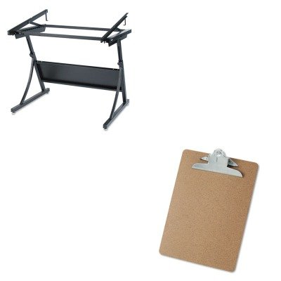 KITSAF3957UNV40304 - Value Kit - Safco PlanMaster Drafting Table Base (SAF3957) and Universal 40304 Letter Size Clipboards (UNV40304)