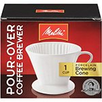 Melitta Coffee Makers Pour-Over Coffee Brewer Cone, Porcelain 1 Cup (A)