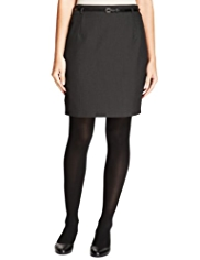 M&S Collection Pencil Mini Skirt with Belt