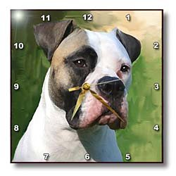 Dogs Bulldog - American Bulldog - Wall Clocks