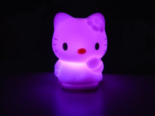 Hello Kitty LED light lamp night light colour changing