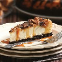 Mother's Day Gift Chocolate Caramel Pecan Cheesecake