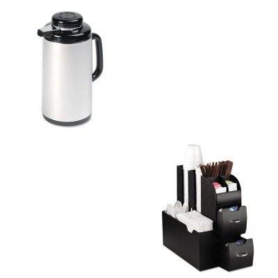 KITEMSCAD01BLKHOR1200SJ - Value Kit - Hormel Vacuum Glass Lined Mirror Finish Stainless Steel Carafe (HOR1200SJ) and Ems Mind Reader Llc Coffee Organizer (EMSCAD01BLK)