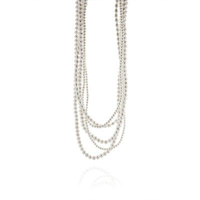 Five Strand Multi Shaped Multi Size Pearl Necklace
