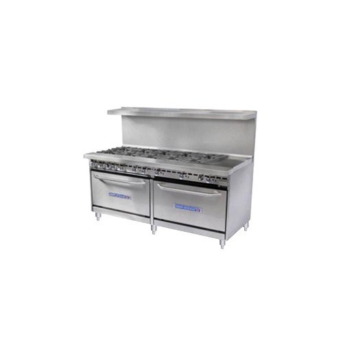 Natural Gas Bakers Pride Restaurant Series 72-BP-8B-G24-S30 8 Burner Gas Range with Two Standard 30&