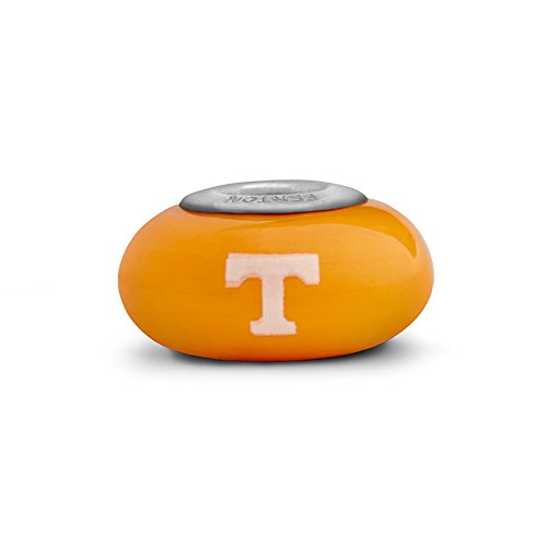 Tennessee Volunteers Small Glass Bead Fits Most European Style Charm Bracelets