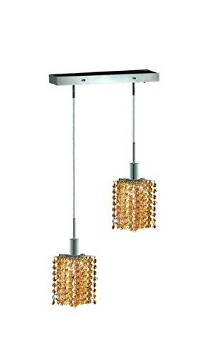 "Wiatt 2-Light 4.5""D Crystal Ceiling Pendant 1090D-O-P-Lt-Rc"