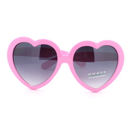Heart Shaped Sunglasses: Pink