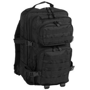 Patrol MOLLE US Army Assault Pack Tactical Rucksack Backpack Bag 50L Black from Mil-Tec
